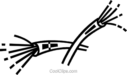 fibre optic cable Royalty Free Vector Clip Art illustration.