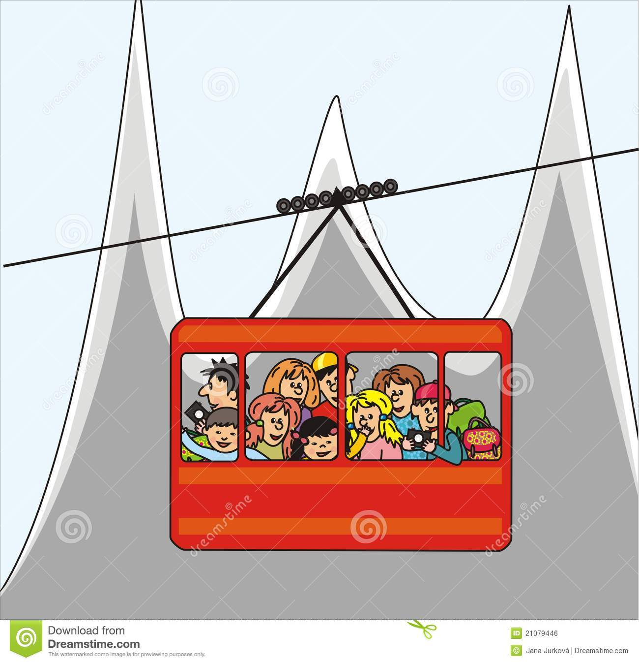 Cableway Stock Illustrations.
