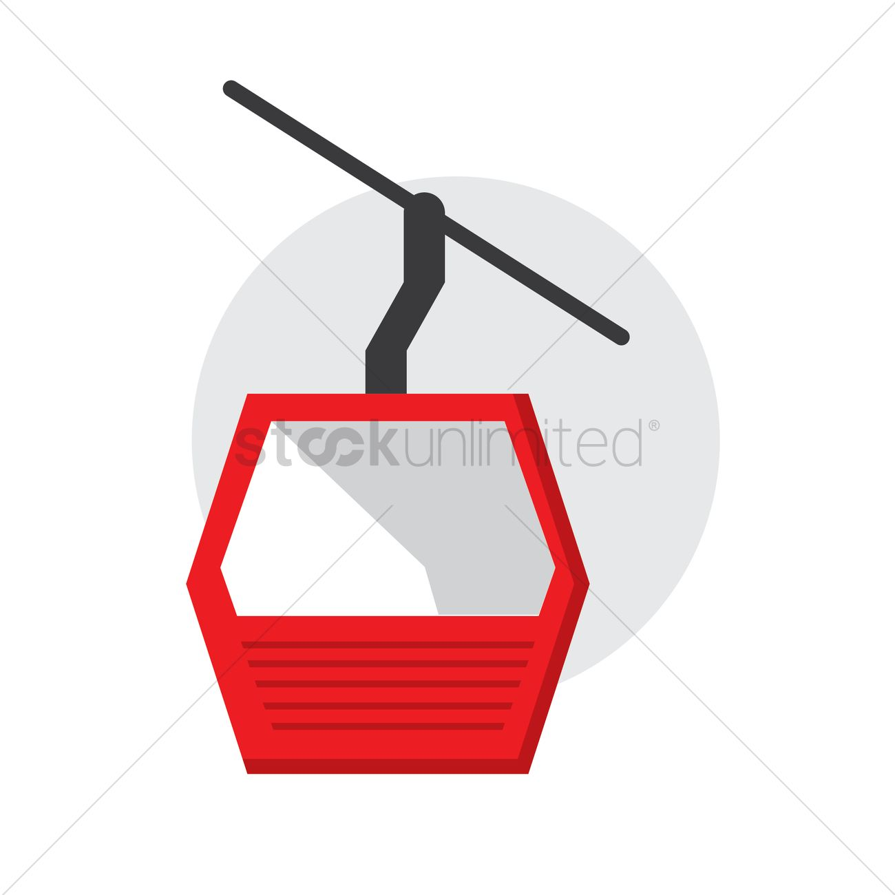 Cable car Vector Image.