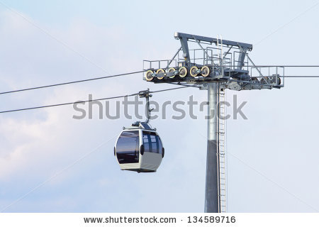 Cable way system Stock Photos, Images, & Pictures.