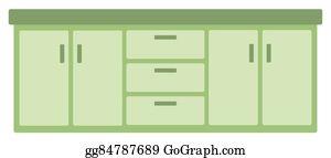 Kitchen Cabinet Clip Art.