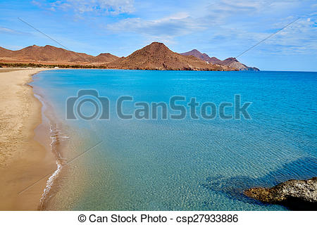Pictures of Almeria Playa los Genoveses beach Cabo de Gata.