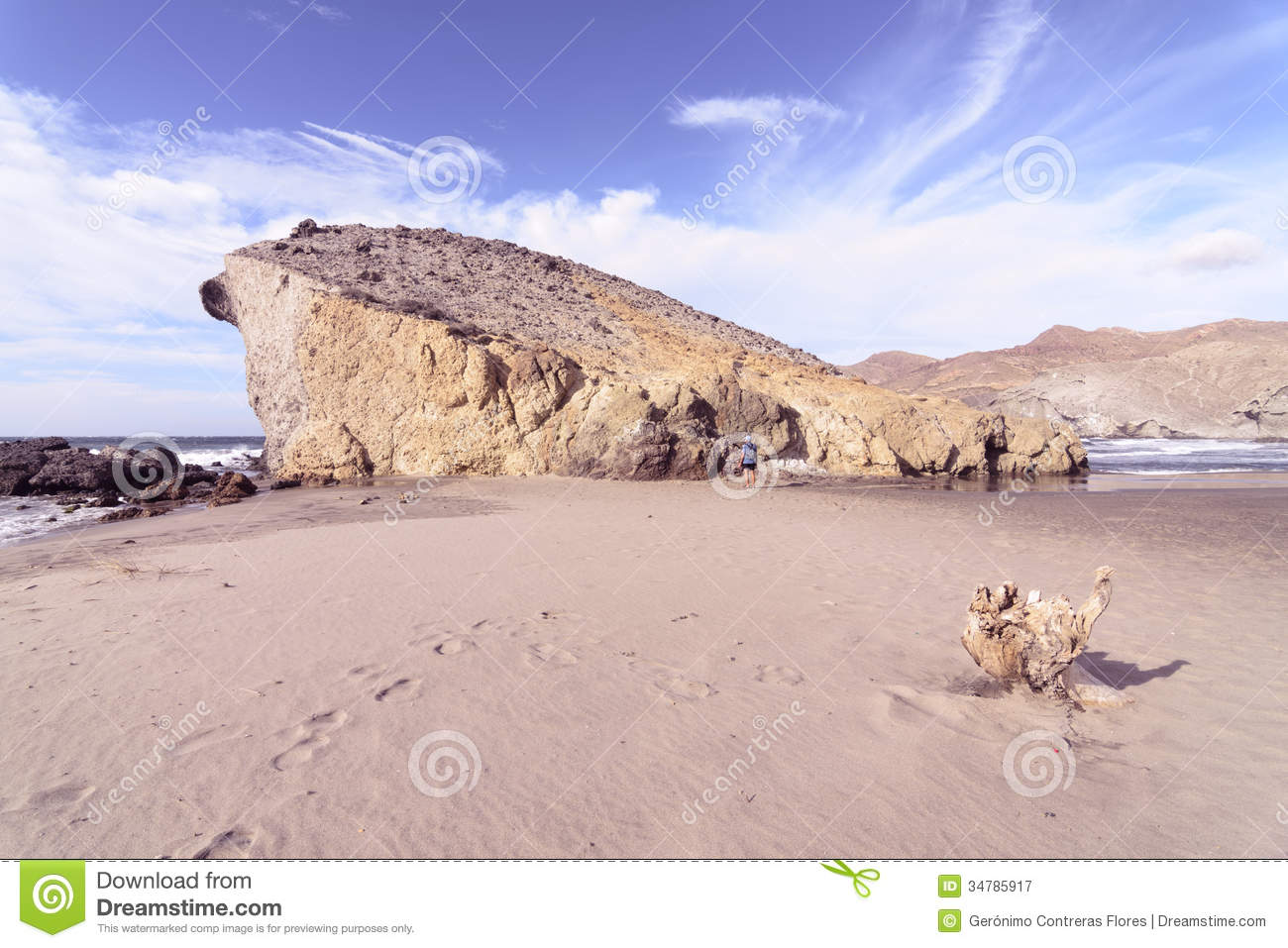 Monsul Beach, Cabo De Gata National Park,Almeria Royalty Free.
