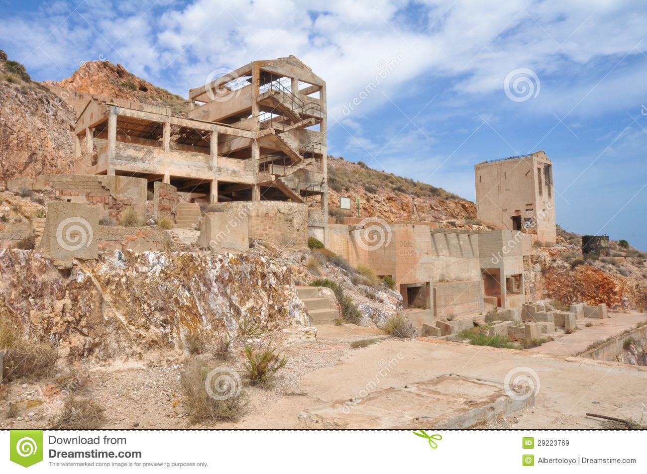 Rodalquilar Gold Mine Ruins.