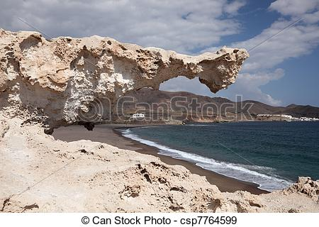 Stock Photographs of Rock at Cabo de Gata, Almeria Spain.