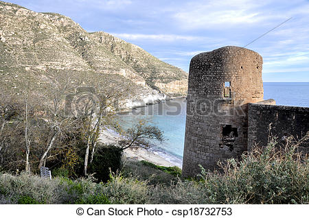 Stock Images of San Pedro cove, Cabo de Gata.
