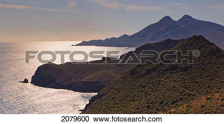 Stock Photography of View from the amythyst lookout point cabo de.