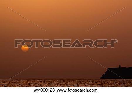 Stock Photo of Portugal, Algarve, Sagres, View of cabo de sao.