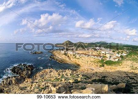 Stock Photo of Hotel on the coast, Twin Dolphin Hotel, Cabo San.