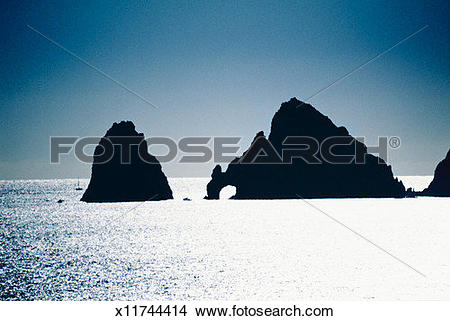 Stock Photo of Mexico, Baja California, Cabo San Lucas, Land's End.