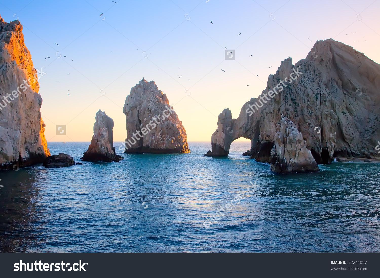 Arch Sunset Cabo San Lucas Mexico Stock Photo 72241057.