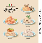 Spaghetti carbonara Clipart and Stock Illustrations. 63 Spaghetti.