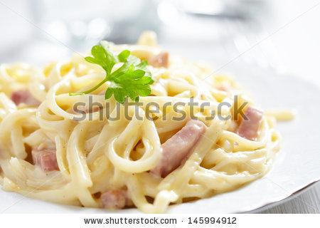 Pasta Carbonara Stock Photos, Royalty.