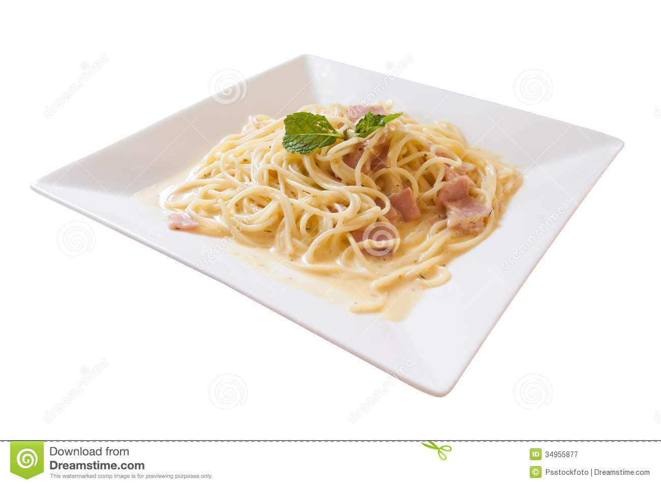 Spaghetti Carbonara Royalty Free Stock Photography.