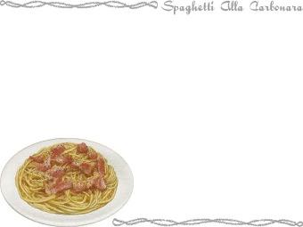 Spaghetti Alla Carbonara clipart / Free clip art.
