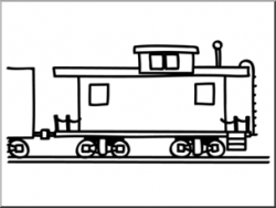 Caboose clipart black and white, Picture #317480 caboose.