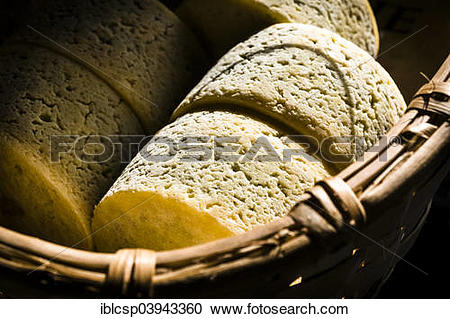Stock Photography of Queseria Rogelio Lopez Campo, Cabrales cheese.