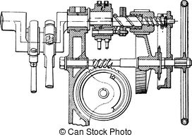 EPS Vectors of Winch, vintage engraving..