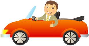 Cartoon Cabriolet Car Stock Illustrations.