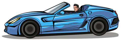 Cartoon Man Driving Sports Car Stock Photos, Images, & Pictures.