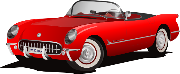 Red convertible clipart.