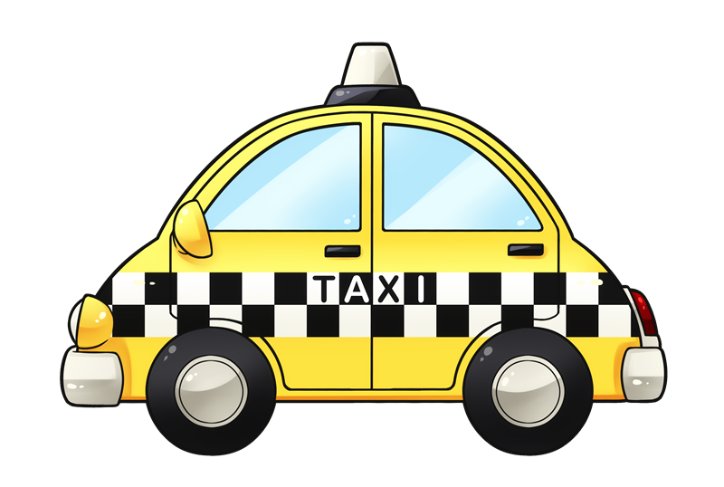 Free Glossy Taxi Clip Art.