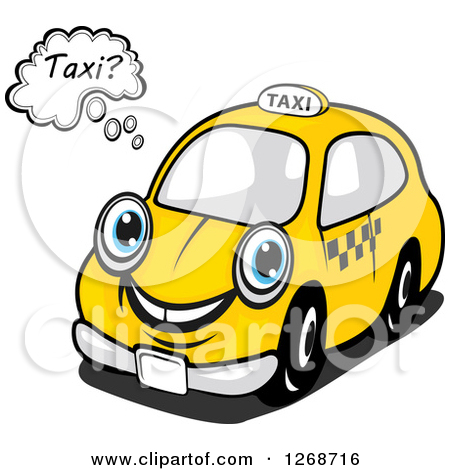 Clipart of Yellow and Black Taxi Labels 4.