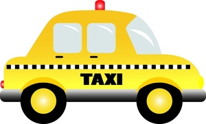 Free clip art taxi cabs.