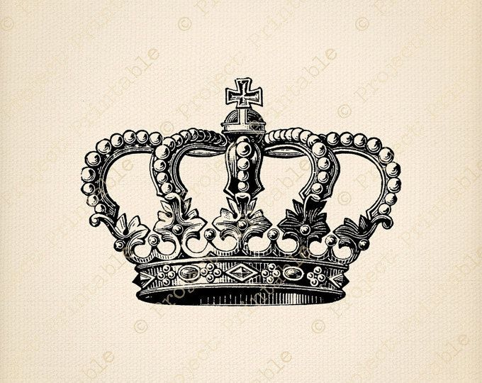 INSTANT Download Printable CROWN Clipart Graphics.
