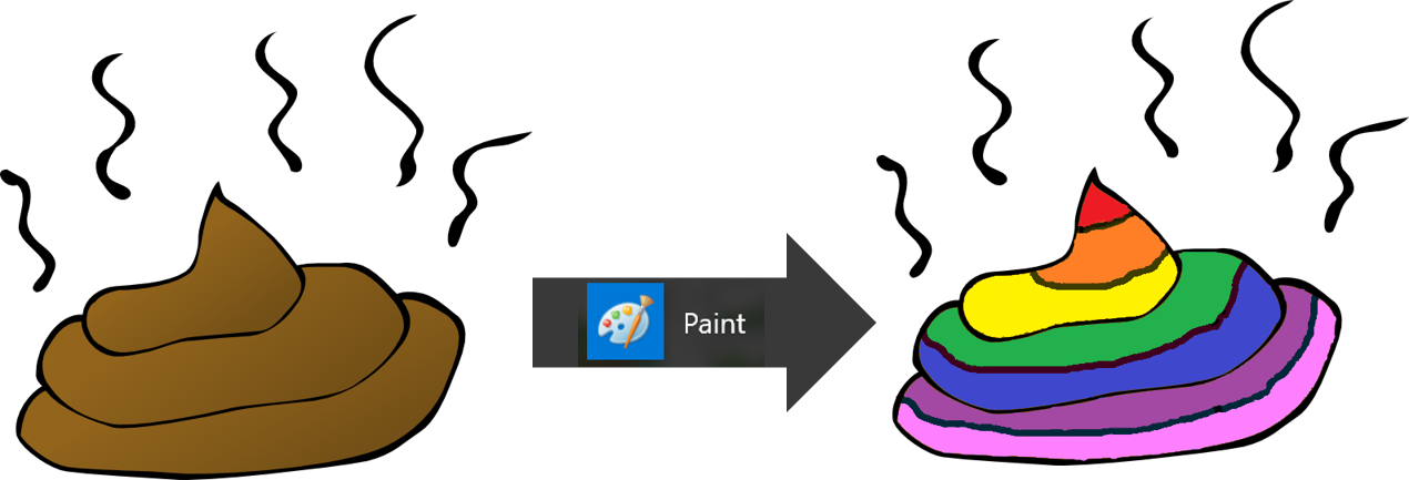 Paint, L\'outil Idéal Pour Transformer Le Caca.