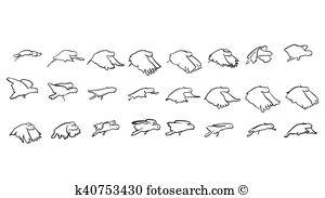 Cacatuidae Clip Art Vector Graphics. 11 cacatuidae EPS clipart.