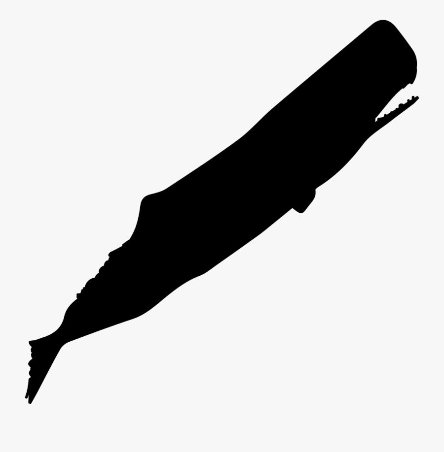 Sperm Whale Silhouette.