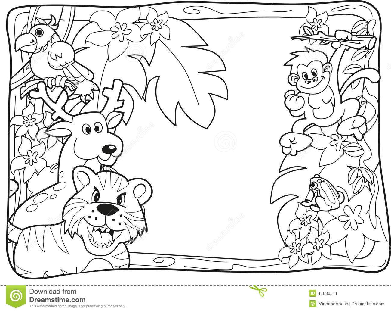 Jungle Animals Clipart Jungle Animals Coloring Pages Animals.