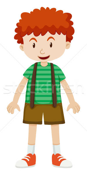 Boy with curly hair vector illustration © Daniel Cole.