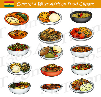 Central and Western African Food Clipart.