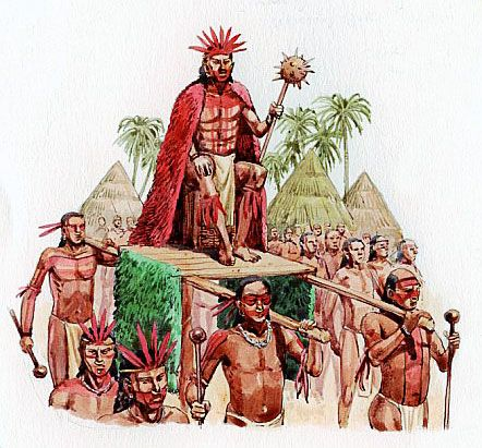 a Taino Indian cacique (Indian Chief) \