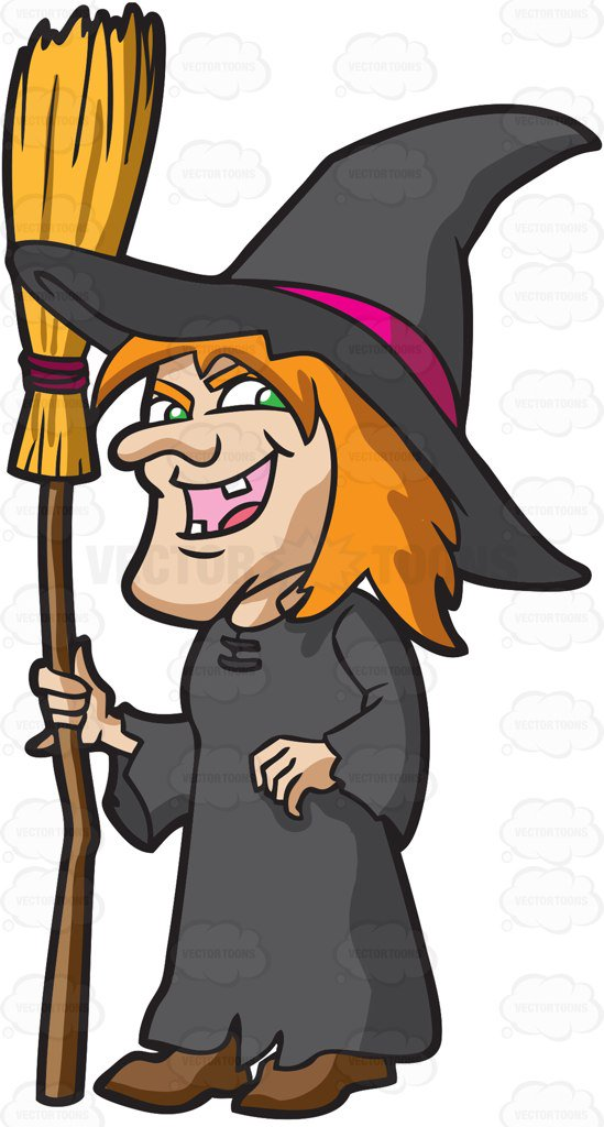 Laughing Witch Clipart.
