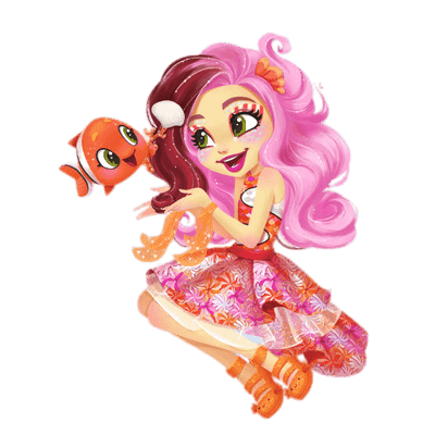 Enchantimals Clarita Clownfish and Cackle transparent PNG.