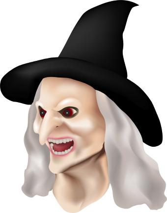 Evil Witch clip art.