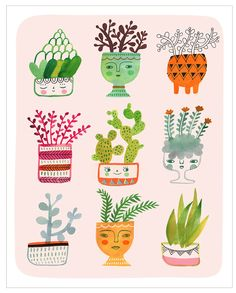 Pin by Will Watson on Cacti & succulent illustrations.