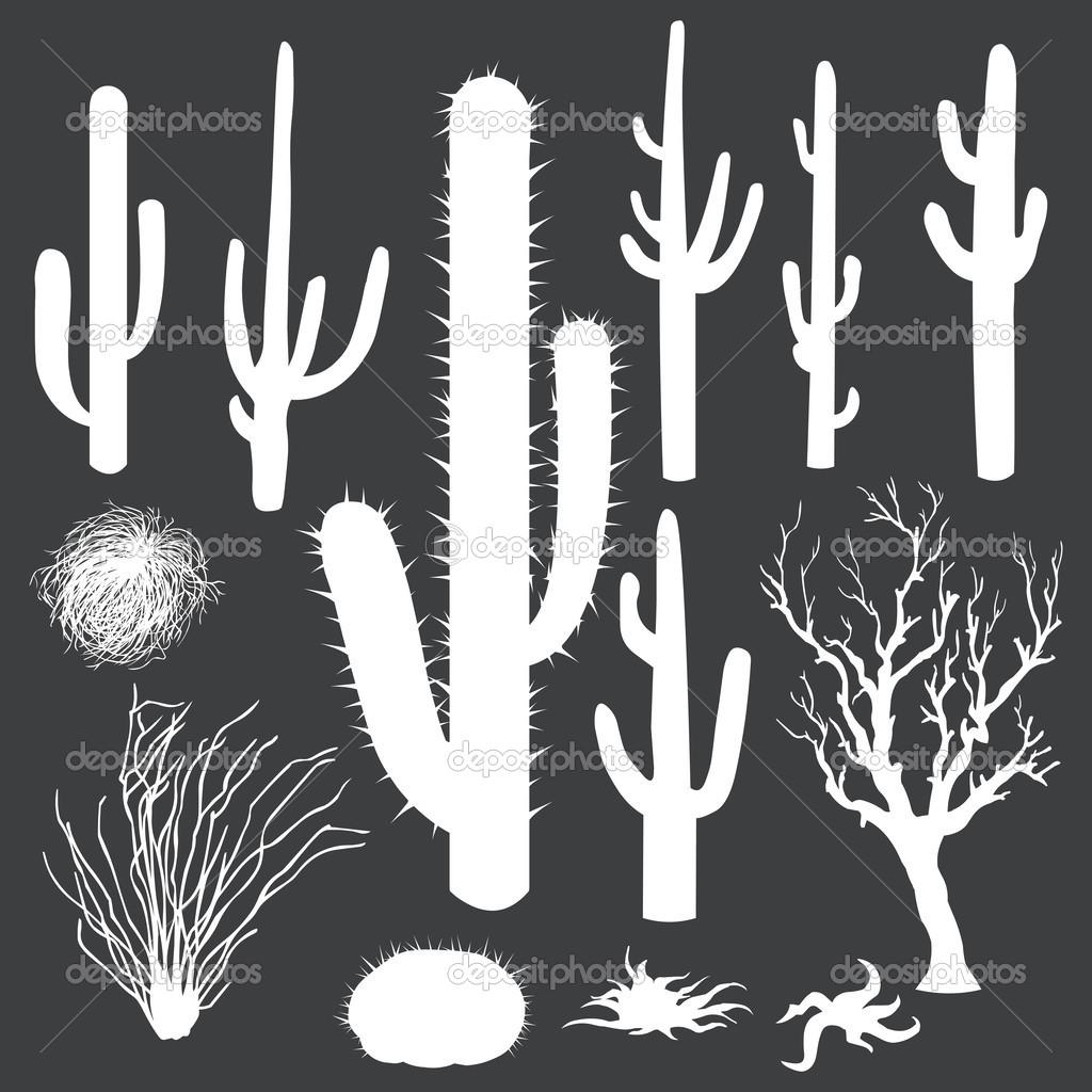 cactus silhouette clipart #8