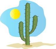 Free Cactus Clipart.