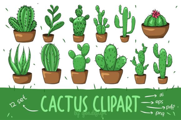 Cactus Clipart Set.