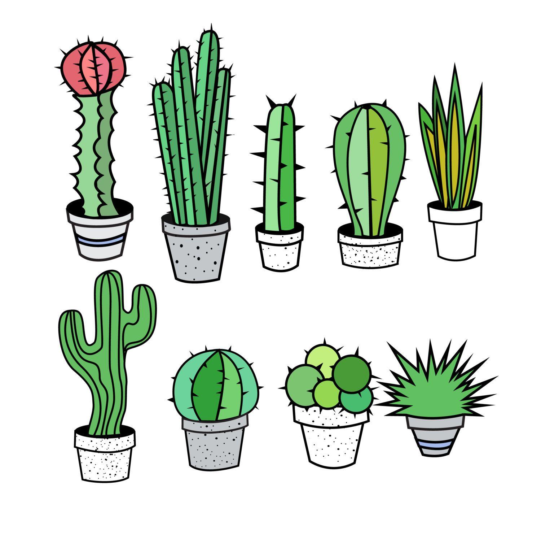 Cactus Clipart, Cactus Clip Art, Tribal Clipart, Tribal Clip.