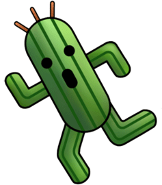 The Cactuars from the Final Fantasy Series.