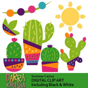Summer Cactus Clip Art.