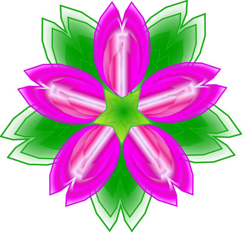 Cactus flower clip art.