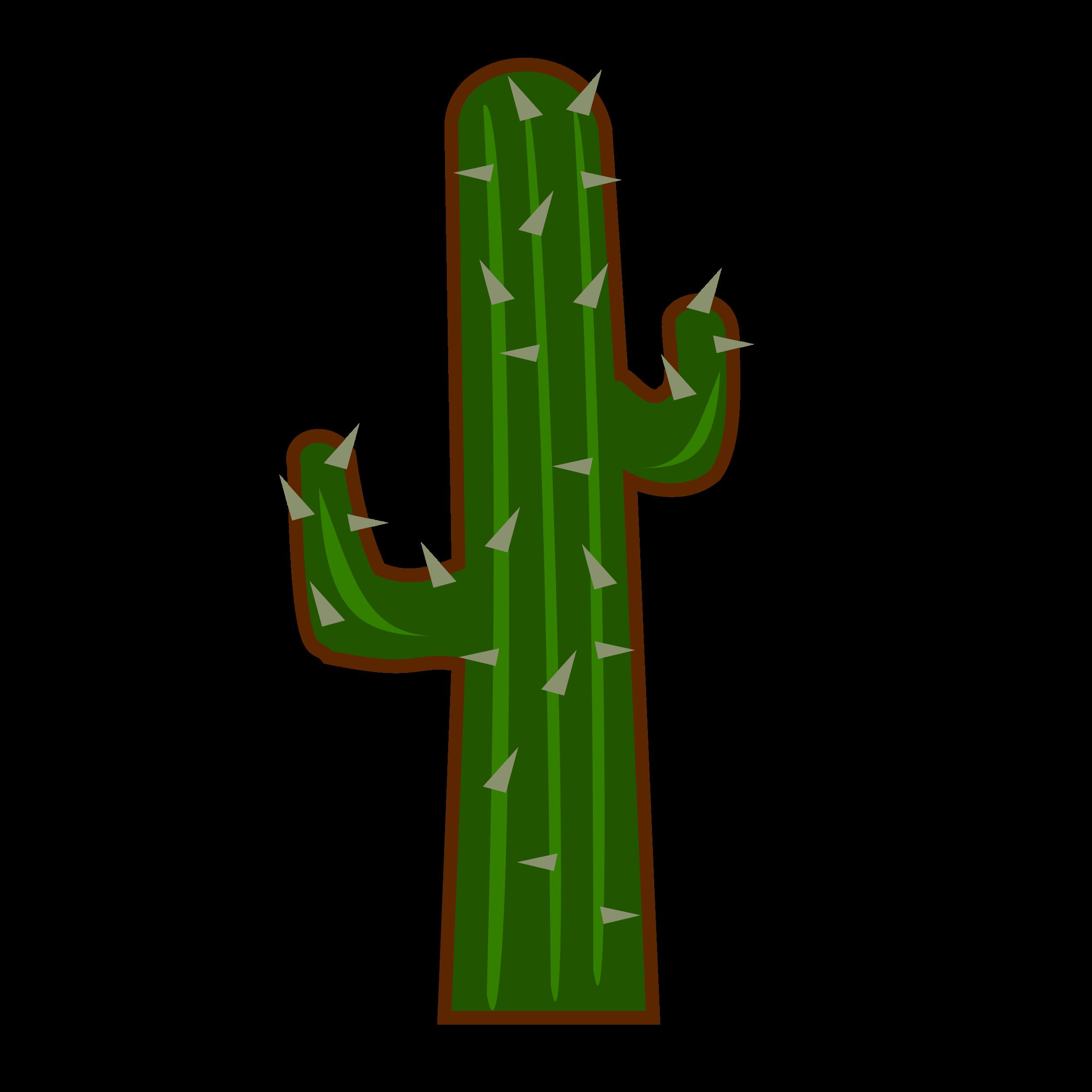 Cactus clip art image.