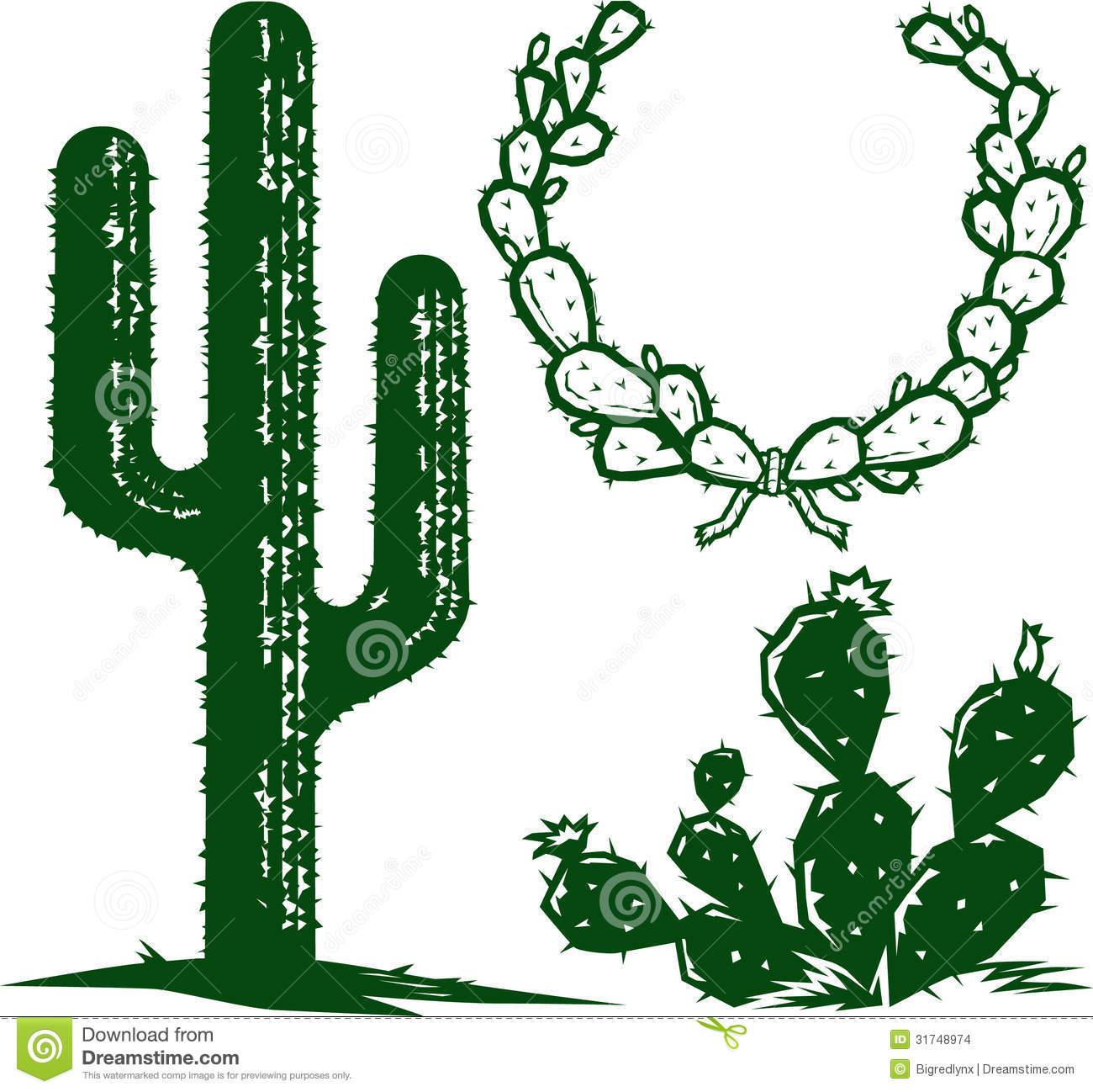 Cactus silhouette clip art.