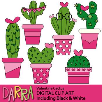 Valentine Cactus Clipart.